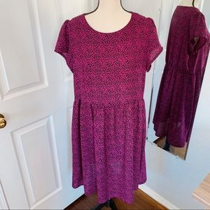Simply Be floral dress size 16 short sleeves pink